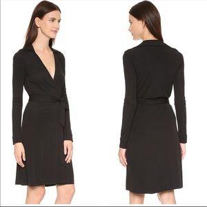 Diane von Furstenberg Black New Jeanne Wrap Dress